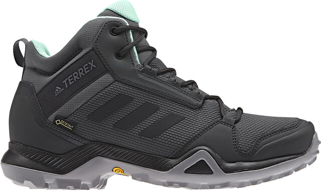 adidas TERREX AX3 Mid Gore-Tex Hiking Shoes Women grey five/core  black/clear mint
